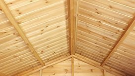 Apex Superior Shed roof - x 19 x 125mm tongue and groove match boarding, on ex 38 x 75mm planed framing