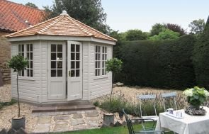 3.6 x 3.6m Wiveton Summerhouse in Valtti Paint