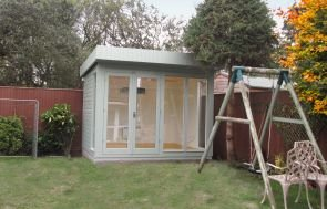 Salthouse Studio with Painted Matchboard Lining