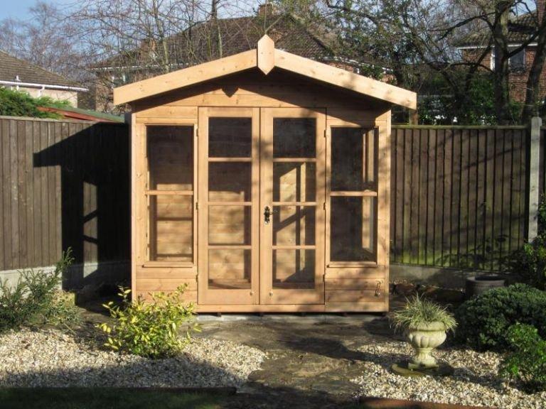 Blakeney Summerhouse in Light Oak Preservative