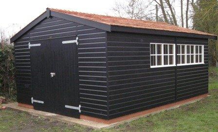4.2 x 5.4m Timber Garage