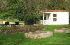 Morston Summerhouse Overlooking a Swimming Pool