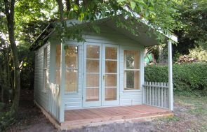 Morston Summerhouse with Black Guttering