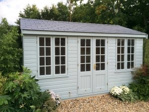 Holkham Summerhouse with Grey Slate Effect Tiles