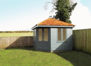 Weybourne Summerhouse with Valtti Paint in Slate