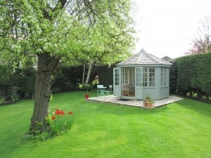 Wiveton Summerhouse with Weathered Cedar Shingles
