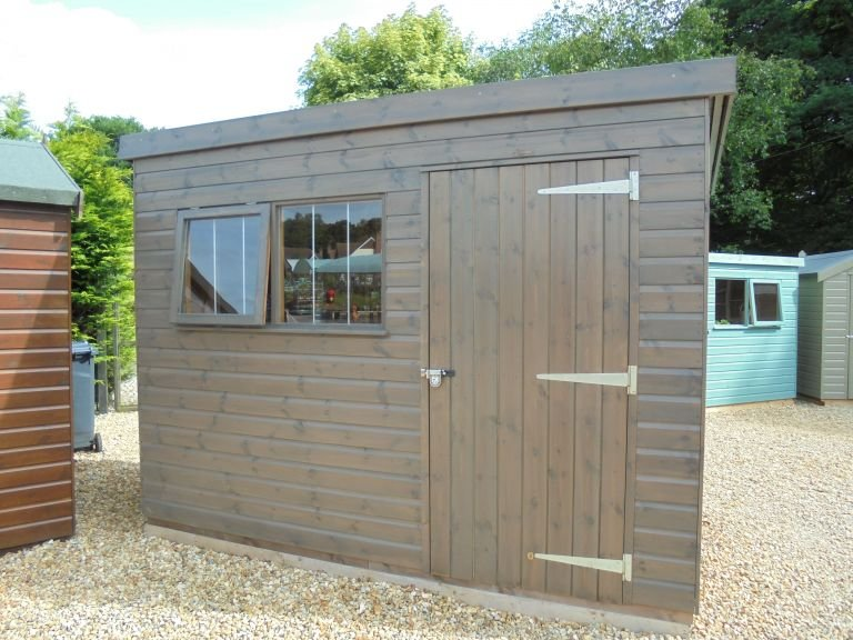 1.8 x 3.0m Superior Shed with Pent Roof and Security Pack