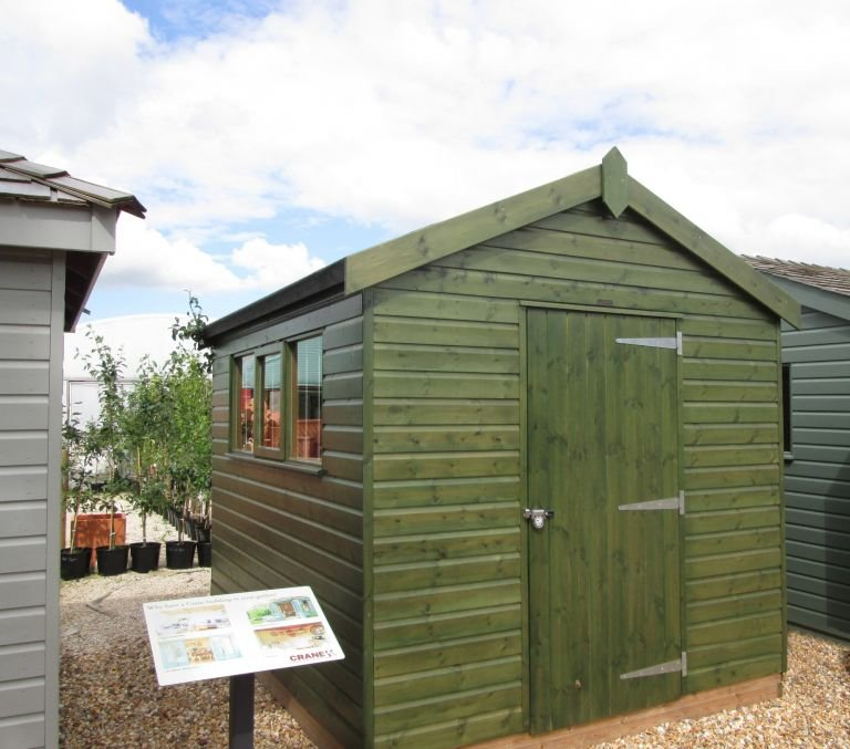 2.4 x 3.0m Superior Shed in Sikkens Green with Security Pack