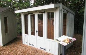 1.8 x 2.4m NT Flatford Summerhouse