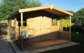 Morston Summerhouse with shed doors and windows