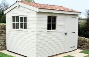 Superior Shed finished in planed shiplap cladding