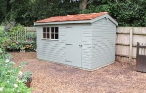 Superior Shed with Valtti Lizard Paint