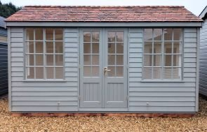 Holkham Summerhouse Painted from our Exterior Paint System in Ash