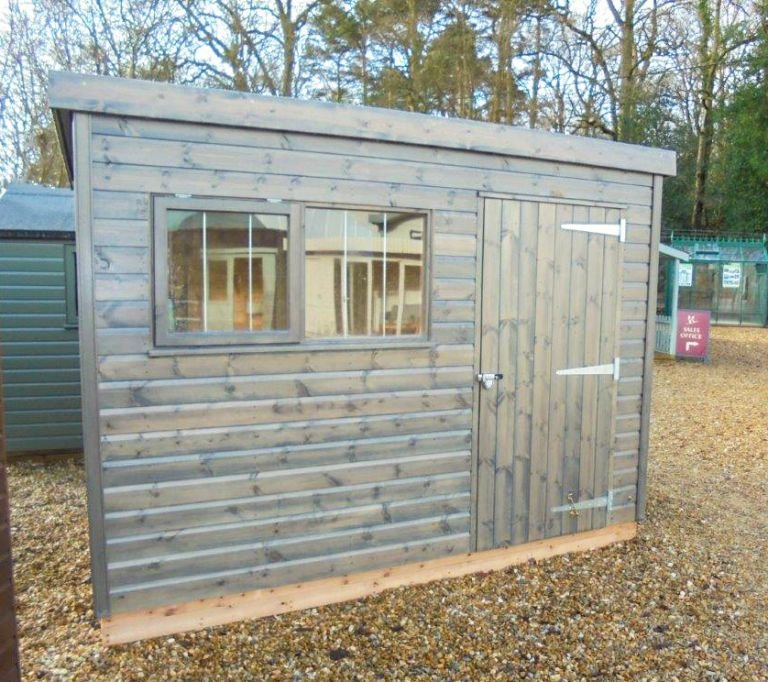 Superior Shed in Grey Sikkens Paint