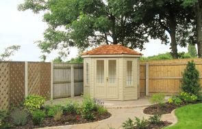"6 x 8'6"" Wiveton Summerhouse in Taupe"