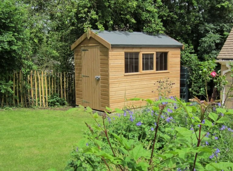 Superior Shed in Light Oak Preservative