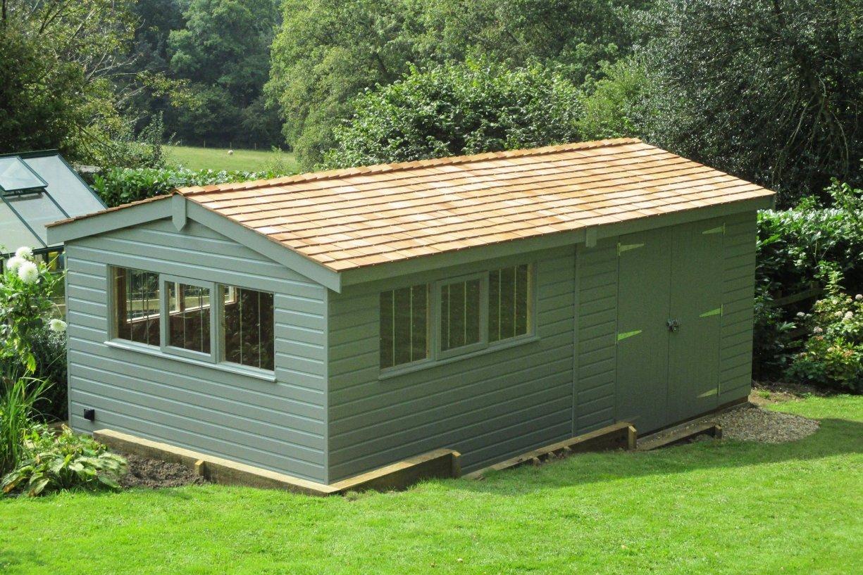 garden sheds delivery installation included crane garden buildings