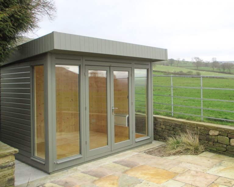2.4 x 3.0m Salthouse Studio painted in Ash from our Exterior Paint System