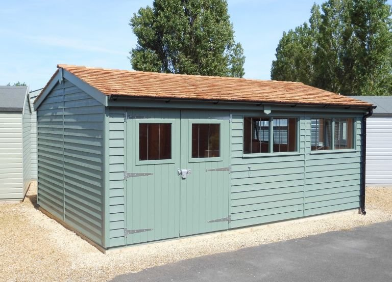 Superior Shed in F&B Green Smoke