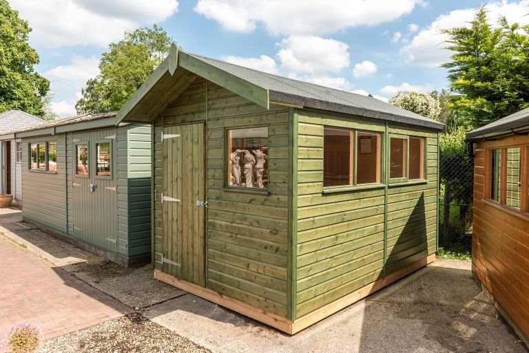 Green Sikkens Superior Shed