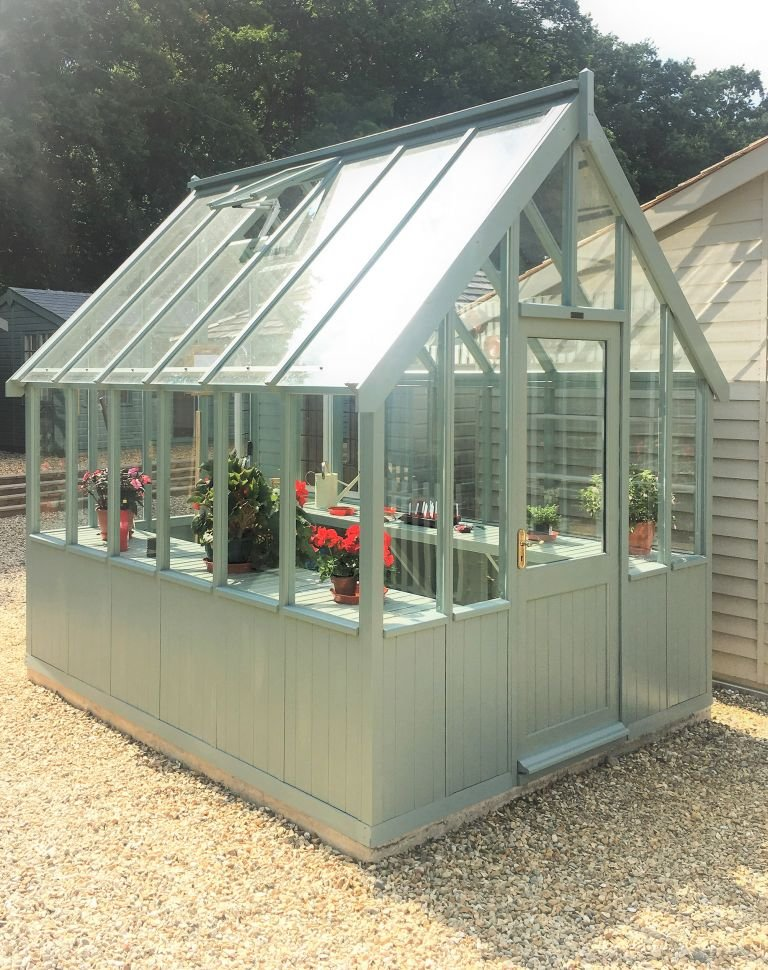 2.4 x 3.0m Timber Greenhouse