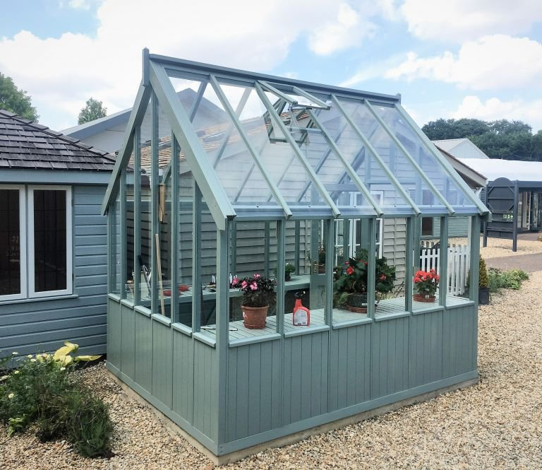 Sage painted Greenhouse