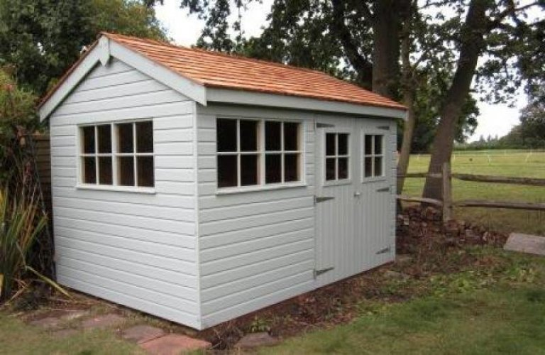 Exterior Paint System Superior Shed with Shiplap Cladding and Georgian Windows - Ilkley