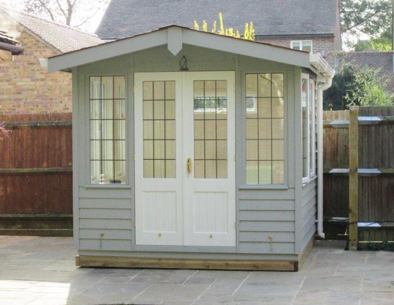 Blakeney Summerhouse with White Guttering - Gloucester