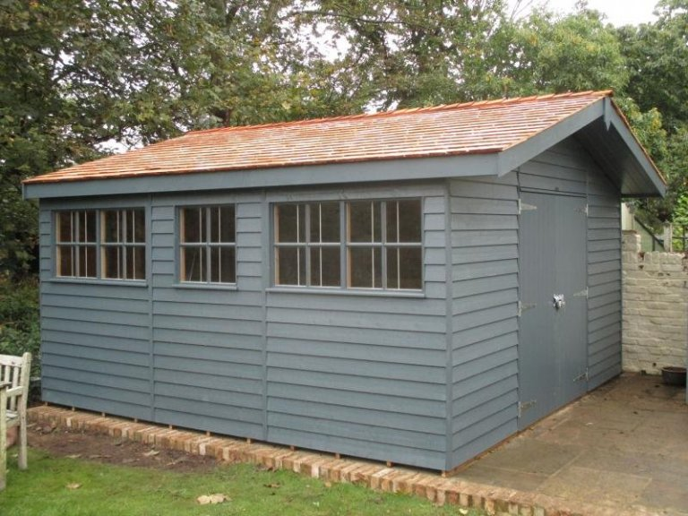 Superior Shed with Overhang - Gloucester