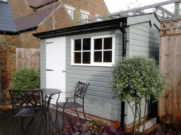 Superior Shed with Slate Effect Tiles - North London