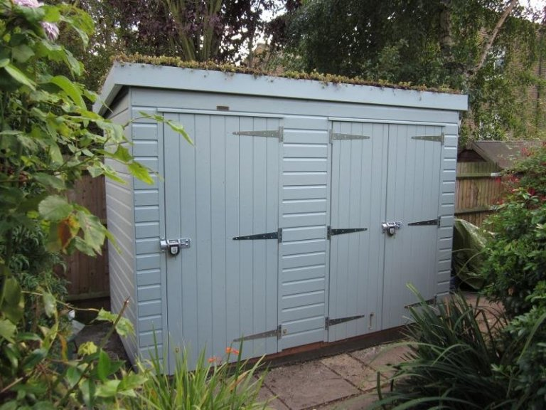 Superior Shed with Sedum Roof - Tooting