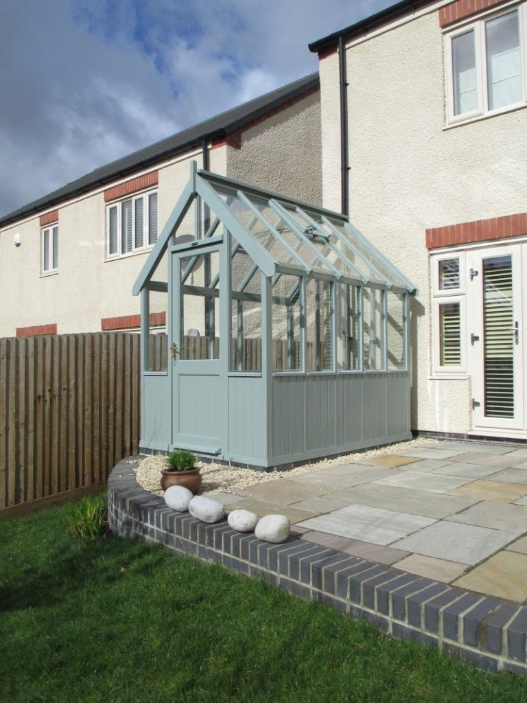 Greenhouse with Sage Valtti Paint System - Swansea