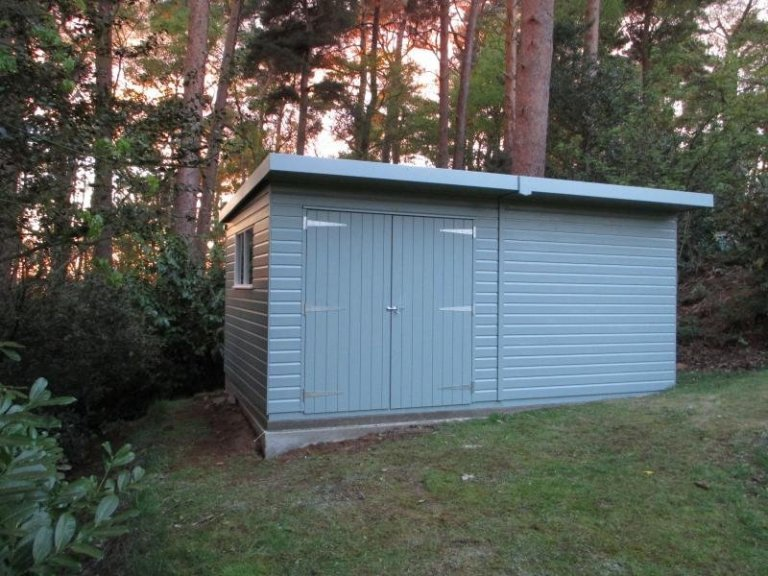 Superior Shed with Painted Windows  - Sevenoaks