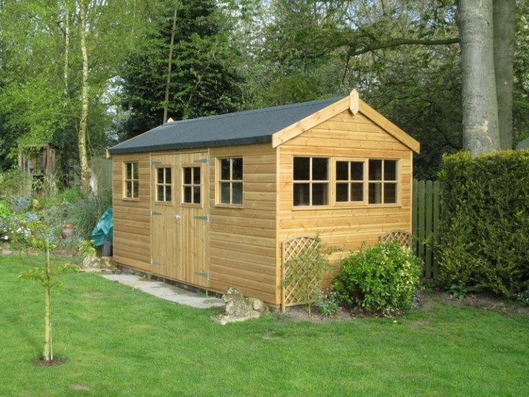 Superior Shed with Georgian Windows - Caterham