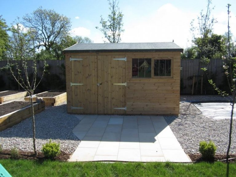 Superior Shed with Work Bench - Kingston Upon Thames