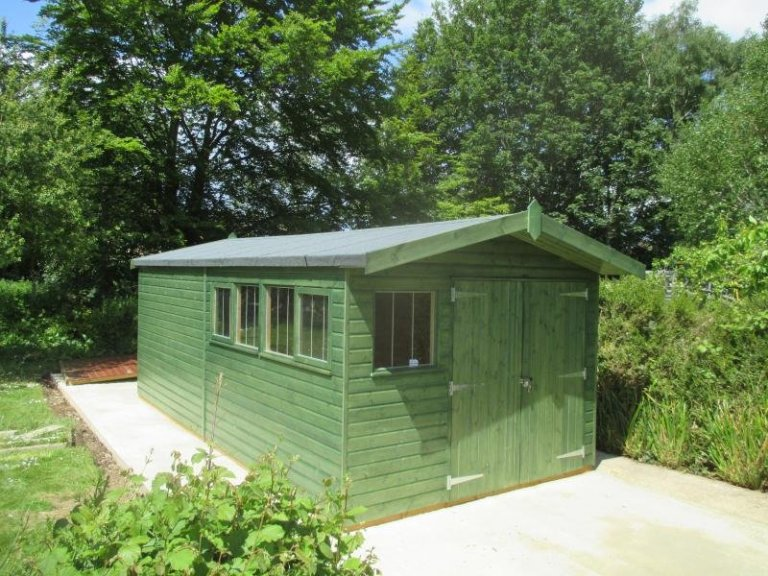 Superior Shed with Roof Overhang - Thames Ditton
