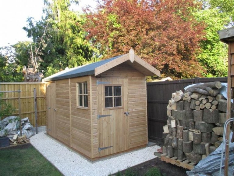 Superior Shed with Georgian Windows - West Ealing