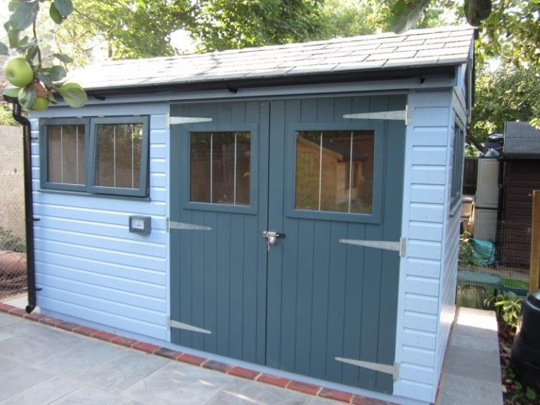 Superior Shed with Dual Colours - Horley