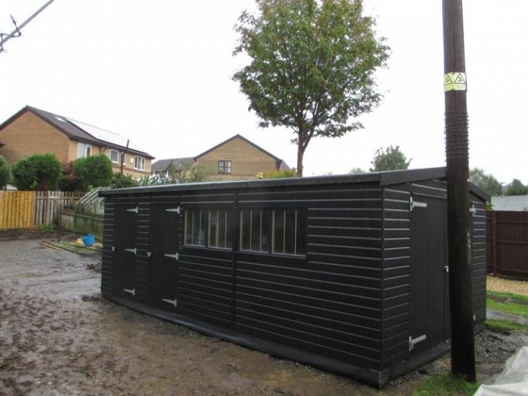Timber Garage with Partition - Newcastle upon Tyne