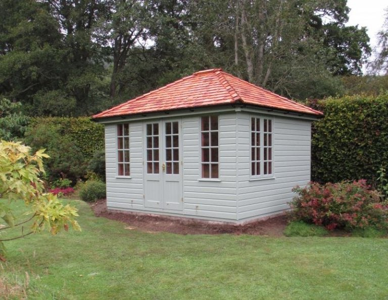 Cley Summerhouse with Colour Matched Interior Paint - A