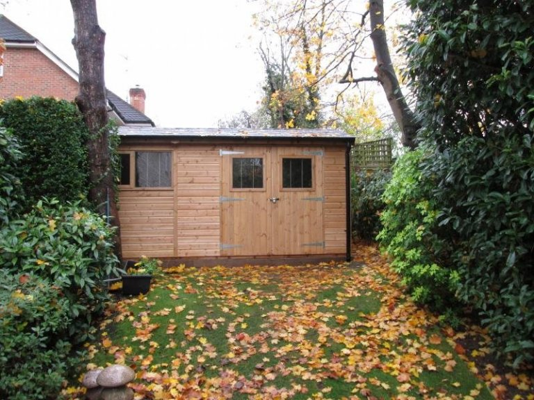 Superior Shed with Black Guttering - Watford