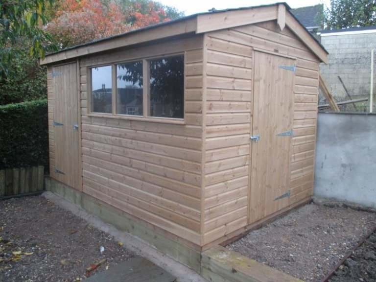 Superior Shed with a Partition - Bath