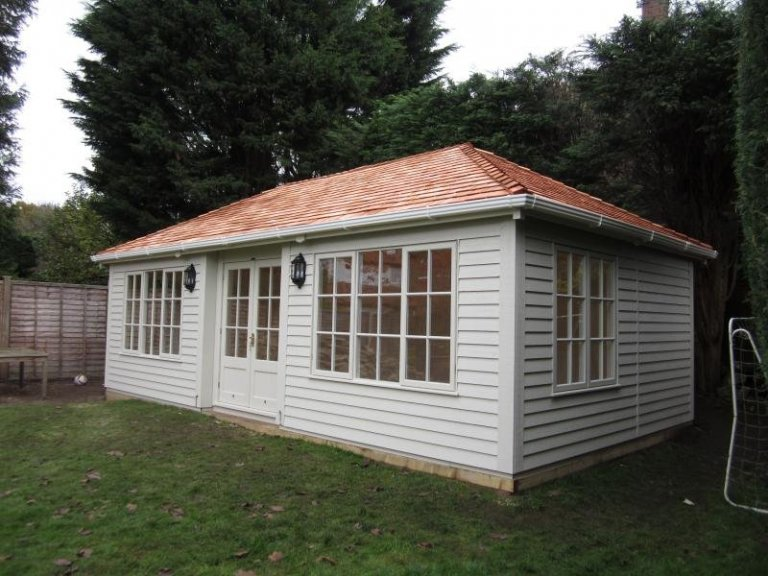 Garden Room with Triple Window Sets - Esher