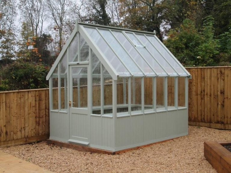 Greenhouse with Two Slatted Benches - Cheltenham