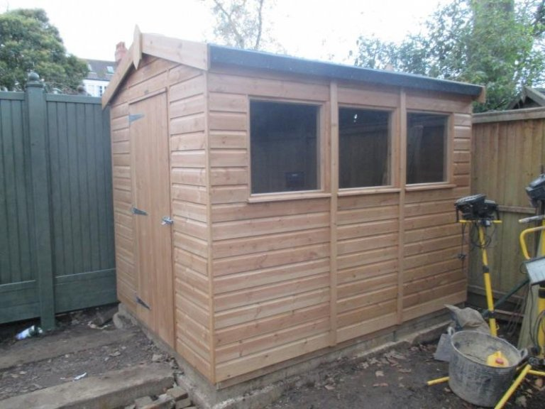 Superior Shed with Three Windows - Grove