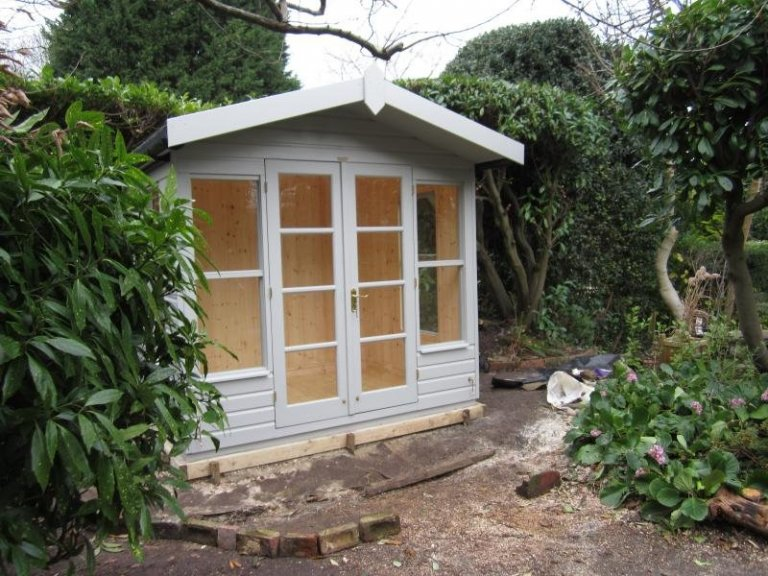 Blakeney Summerhouse in Our Exterior Paint System - Ditchling