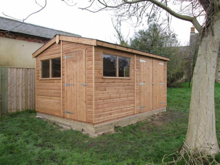 Superior Shed with Two Door Sets - Wantage