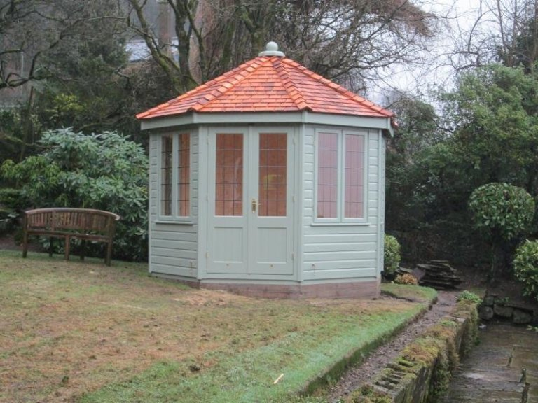 Wiveton Summerhouse with Natural Matchboard Lining - Ho