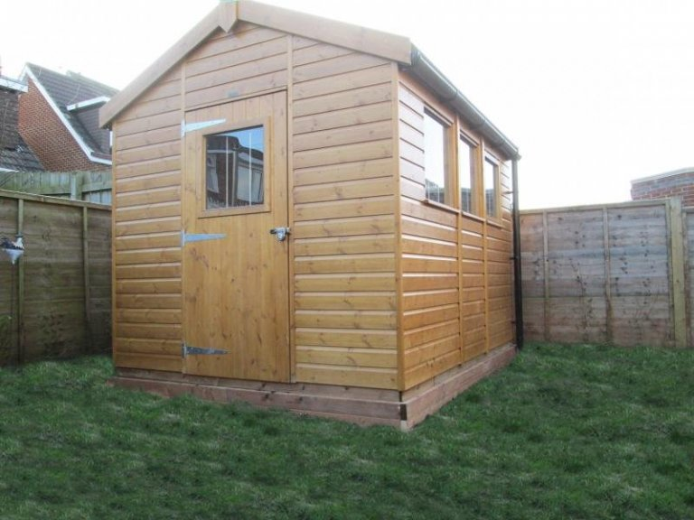 Superior Shed with Window in Door - Guisborough
