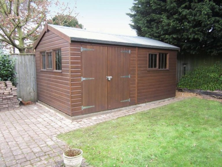 Superior Shed with Double Doors - Lancashire